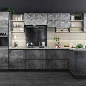 现代风格厨房橱柜3D快三追号倍投计划表【ID:533770328】