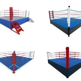 现代拳击台组合3D模型【ID:335469898】
