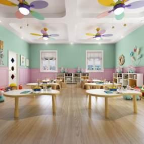 北歐幼兒園教室3D模型【ID:947452659】