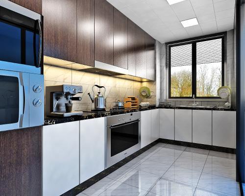 现代厨房3D模型【ID:543179323】