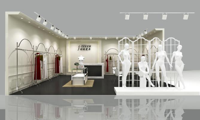 北欧简洁服装店3D模型【ID:145836007】