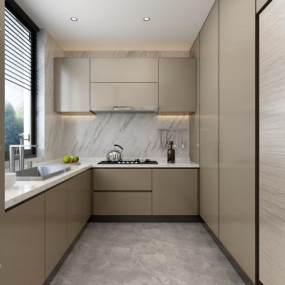 厨房橱柜组合3D模型【ID:536163339】