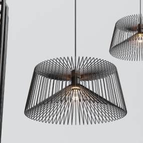 工业风金属吊灯3D模型【ID:733264844】
