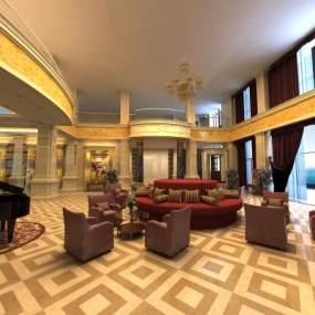 现代大厅客厅3D模型【ID:944515985】