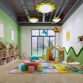 现代幼儿园教室3D模型【ID:944230653】
