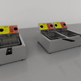 商业电炸炉3D模型【ID:230955846】