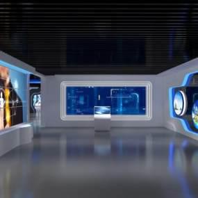 现代科技展厅3D模型【ID:932372724】