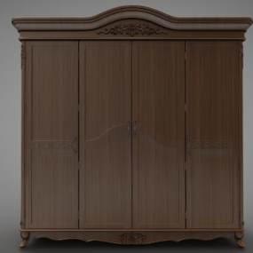 歐式風格裝飾柜3D模型【ID:147454161】