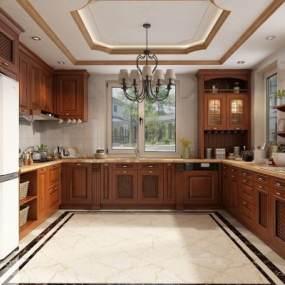 欧式厨房橱柜3D快三追号倍投计划表【ID:533638386】
