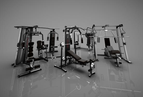 現代健身器材3D模型【ID:546582980】
