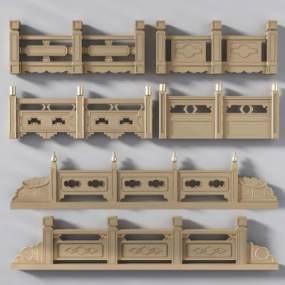新中式栏杆扶手石扶手桥扶手3D模型【ID:330570416】