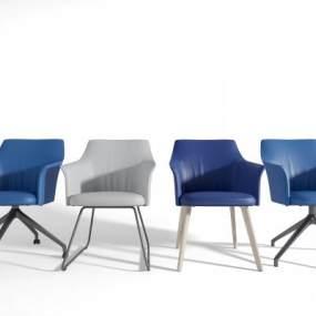 现代办公椅组合3D模型【ID:730723458】