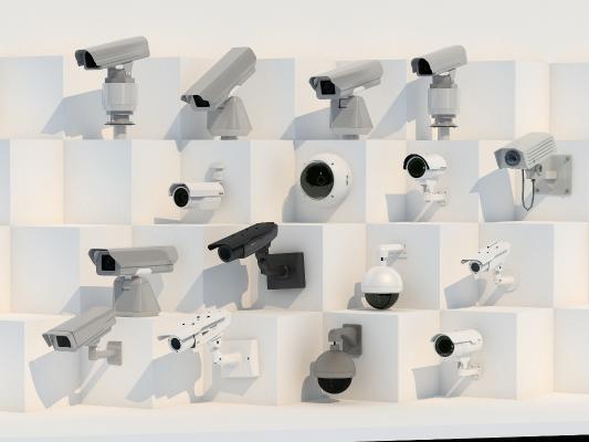 攝像頭安防戶外保全攝像頭3D模型【ID:236062743】