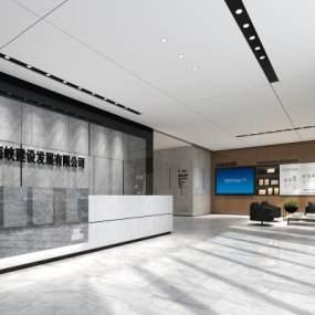 现代办公大厅3D模型【ID:946913215】
