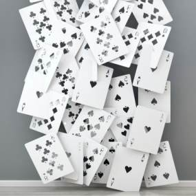 现代扑克装饰品摆件3D模型【ID:230608573】