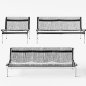 现代不锈钢金属公共排椅3D模型【ID:732103773】