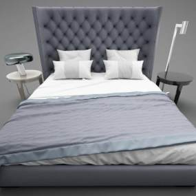现代风格床具3D模型【ID:850539700】