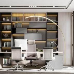 现代办公室3D模型【ID:951036130】