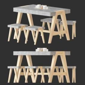 北欧简约桌椅组合365彩票【ID:835488911】