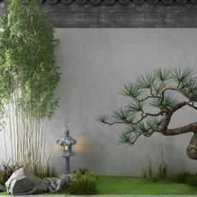新中式景观小品3D模型【ID:149310406】