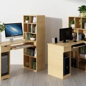 现代书桌3D模型【ID:943280082】