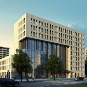 现代办公楼3D模型【ID:134528940】