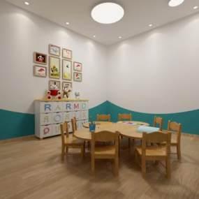 现代幼儿园教室 3D模型【ID:942309646】