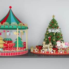 现代圣诞节3D模型【ID:249282546】