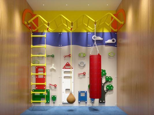 現代兒童室內攀巖3D模型【ID:444029146】