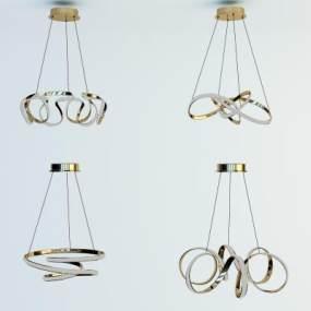 北歐吊燈3D模型【ID:747777800】