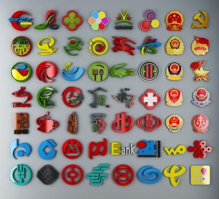 現代LOGO標志國徽圖案徽章3D模型【ID:341505660】