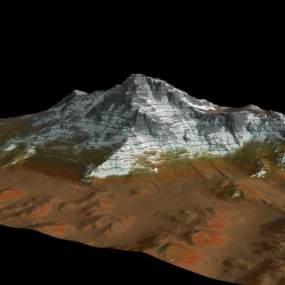 雪山3D模型【ID:132497441】