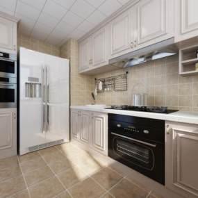 现代厨房3D模型【ID:532179345】