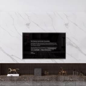 现代电视背景墙3D模型【ID:953467914】