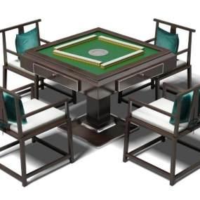 传统中式麻将桌3D模型【ID:832537939】
