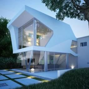 现代别墅3D模型【ID:134681367】