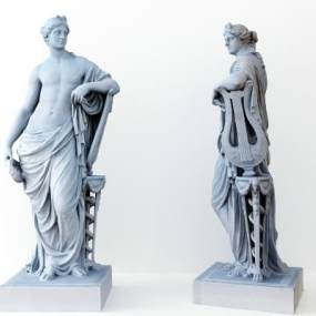 北欧人物雕塑摆件3D模型【ID:243387539】
