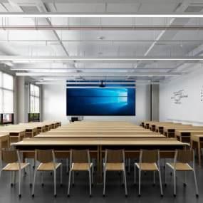 现代教室3D模型【ID:931666656】