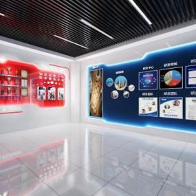 現代企業展廳3D模型【ID:945566778】
