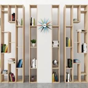 现代书柜3D模型【ID:151162540】