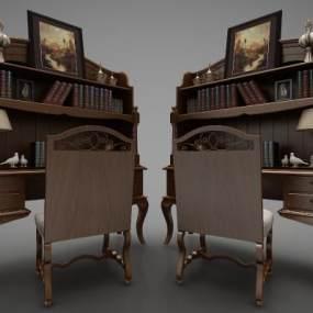 歐式風格裝飾柜3D模型【ID:147450185】