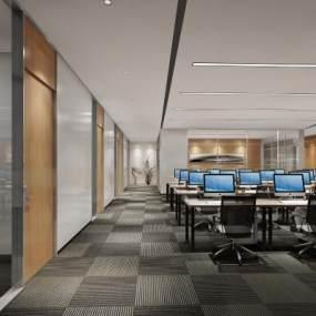 现代办公室3D模型【ID:952562086】