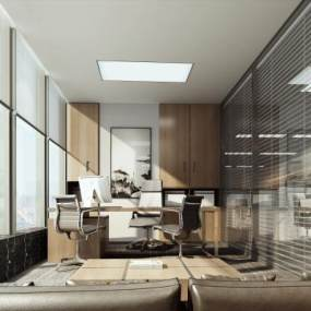 現代經理辦公室3D模型【ID:946939034】