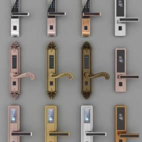现代智能锁组合3D模型【ID:330931317】