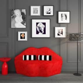 現代簡約創意個性沙發3D模型【ID:642427507】