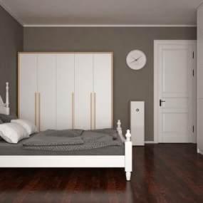 欧式卧室3D模型【ID:536219266】