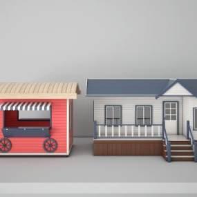现代移动房3D模型【ID:135856356】