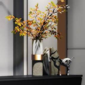 现代雕塑摆件3D模型【ID:350462147】