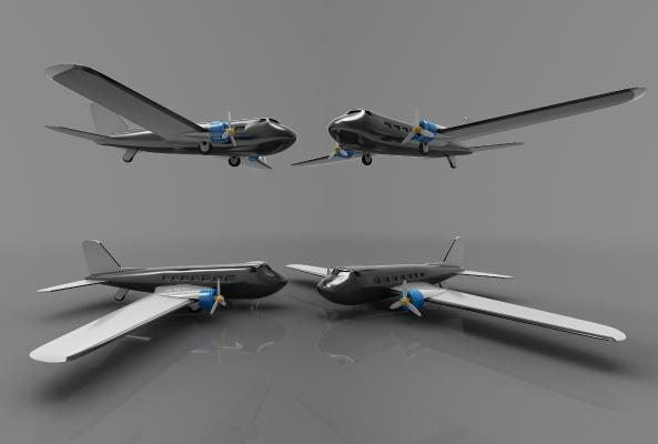 现代风格飞机3D模型【ID:443443983】