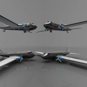 現代風格飛機3D模型【ID:443443983】